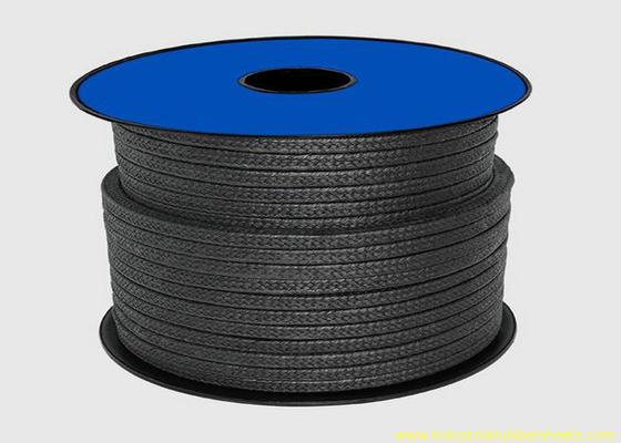 Porcellana Imballaggio nero del teflon PTFE per la corda del materiale di sigillamento/dell'imballaggio ghiandola della grafite distributore