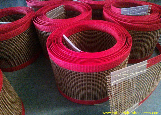 Porcellana PTFE polyester mesh fabric , PTFE polyester mesh fabric for conveyor belt / griddling cloth, made by PTFE coated fabbrica